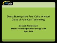 Direct Borohydride Fuel Cells: A Novel Class of Fuel Cell ...