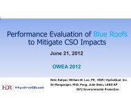 Performance Evaluation of Blue Roofs to Mitigate CSO Impacts