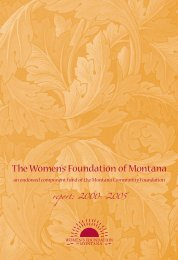 an endowed component fund of the Montana Community