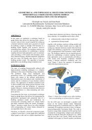 GEOMETRICAL AND TOPOLOGICAL ISSUES FOR COUPLING ...