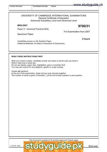 2015 specimen paper 1 mark scheme cambridge international rh yumpu com