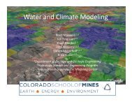 Water and Climate Modeling - CSDMS