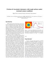 Friction of viscoelastic elastomers with rough ... - Adhesion Society