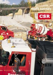 Half Year Report - CSR