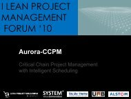 i lean project management forum - Stottler Henke Associates, Inc.