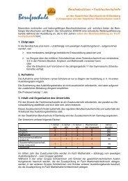 Informationsblatt zum Download - Berufsschule III Bamberg