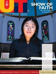 SHOW OF FAITH - University of Toronto Magazine
