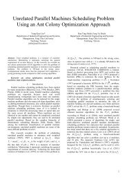 Unrelated Parallel Machines Scheduling Problem Using an Ant ...
