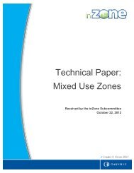 Technical Paper: Mixed Use Zones - Oakville