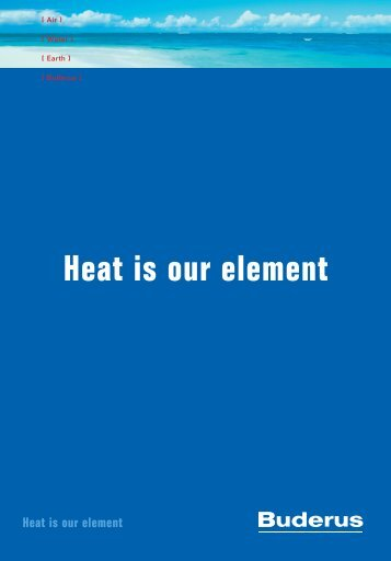 Heat is our element - Buderus