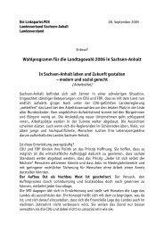 Wahlprogramm für die Landtagswahl 2006 in Sachsen-Anhalt