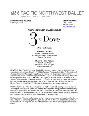 FOR IMMEDIATE RELEASE MEDIA CONTACT: February 9, 2010 ...