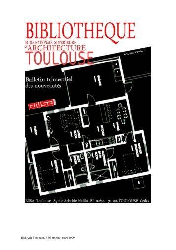 Bulletin n°3, mars 2009 - Ecole nationale supérieure d'architecture ...