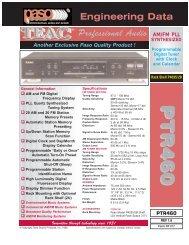 PP TT RR 44 66 00 PP TT RR 44 66 00 - Paso Sound Products