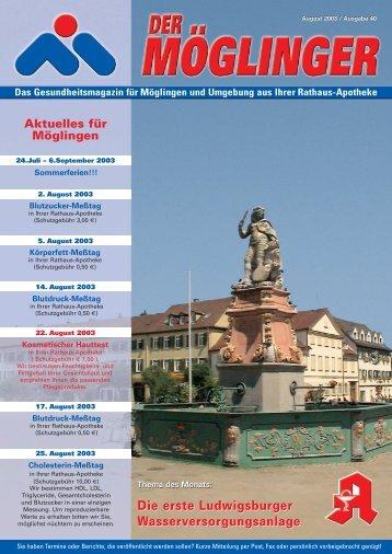 Die erste Ludwigsburger Wasserversorgungsanlage Die erste ...