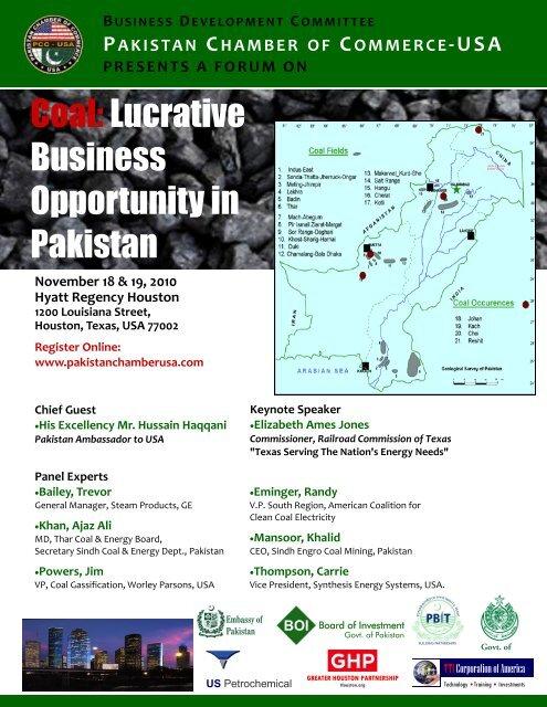 PCC USA Coal Forum pub - Embassy of Pakistan