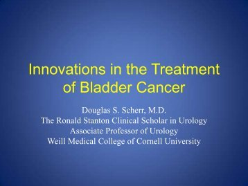 Innovations in the Treatment of Bladder Cancer
