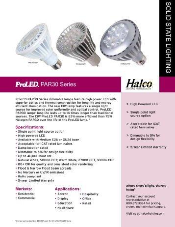 Halco LED PAR 30 Bulbs - LED Lighting