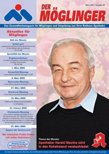 Apotheker Harald Mauthe wird in den Ruhestand verabschiedet