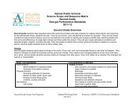 Second Grade - Atlanta Public Schools