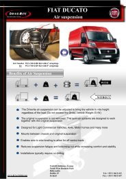 Control Options FIAT DUCATO Air suspension