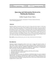 Querying and Information Retrieval in Multimedia Databases - BMIF