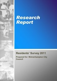 Residents Survey 2011-2012 - Wolverhampton Partnership