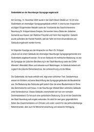Tätigkeitsbericht des Geschichtsvereins ... - Stadt Naumburg