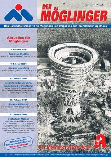 Der Möglinger Wasserturm - Rathaus Apotheke Möglingen