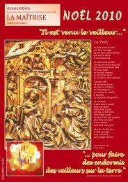 bulletin de noel 2010 - Les Maitrisiens