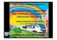 Die europäische Strategie bis 2050 TEN-V-Methodik: Vorschlag für ...