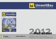 bi-Umweltbau Mediadaten 2012
