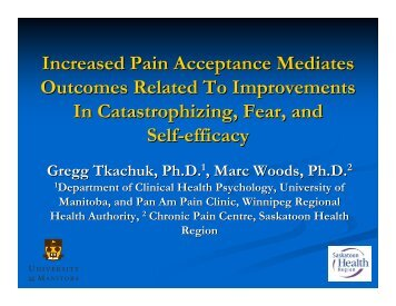 Session 205 - Tkachuk - The Canadian Pain Society
