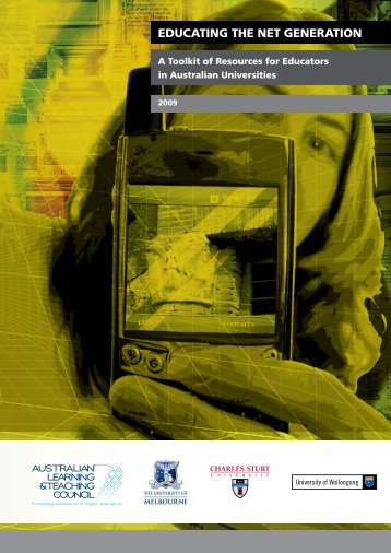 Download - Educating the Net Generation - University of Melbourne
