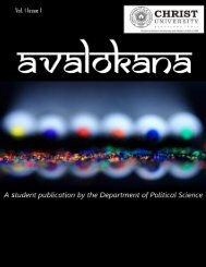 Avalokana Page 0 - Christ University
