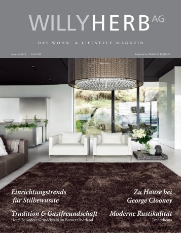 Wohn- und Lifestyle Magazin - Willy Herb AG