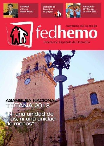 Revista Fedhemo nº 65 - Hemofilia