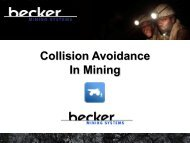 Proximity Detection and Collision Avoidance - underground COAL