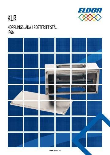 KOPPLINGSLÅDA I ROSTFRITT STÅL IP66 - Eldon