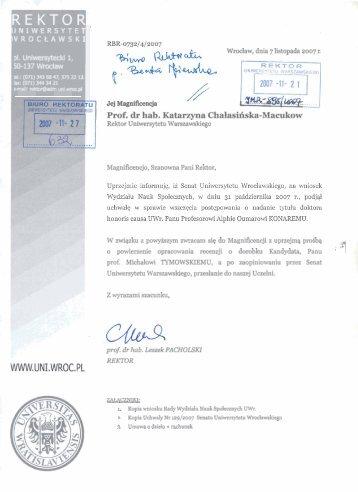 1 Prof. dr hab. Katarzyna Chalasilska-Macukow