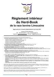 Règlement intérieur du Herd-Book - Limousine.org