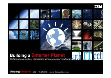 Building a Smarter Planet – dalla teoria alla ... - Guide Share Italia