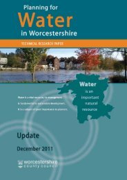 Planning for Water in Worcestershire Research Paper (PDF 1.1 KB)
