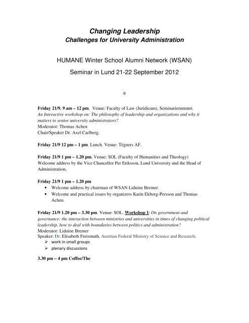 Changing Leadership * - Lund University