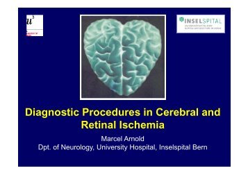 Diagnostic Procedures in Cerebral and Retinal Ischemia
