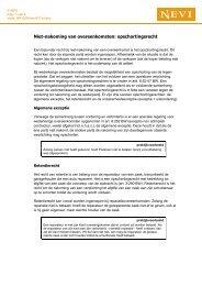 Niet-nakoming van overeenkomsten: opschortingsrecht - Nevi