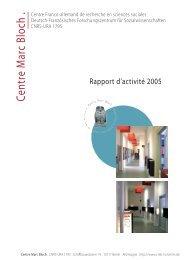 Rapport d'activité - Centre Marc Bloch - Humboldt-Universität zu Berlin