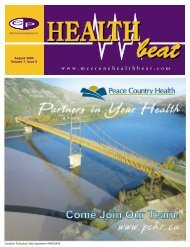 August 2004 Volume 7, Issue 8 - McCrone Healthbeat