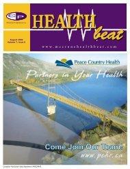 August 2004 Volume 7, Issue 8 - McCrone Healthbeat