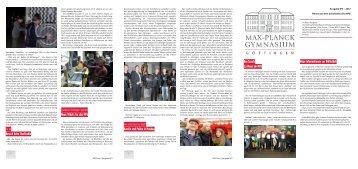 MPG-Info Ausgabe 3 / 2012 - Max-Planck-Gymnasium Göttingen